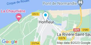 Plan Carte Anne Terlin  à Honfleur