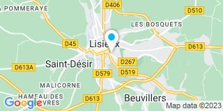 Plan Carte Florence Bodard à Lisieux