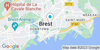 Plan Carte Olivier Goasguen et Paul-Albert Goasguen à Brest