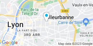 Plan Carte Société Française de Ramonage Maintenance Thermique Aéraulique à Villeurbanne