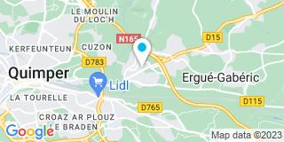 Plan Carte Frédéric Guillou à Ergué-Gabéric