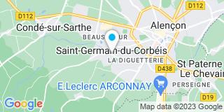 Plan Carte Chalumeau Regis à Saint-Germain-du-Corbéis