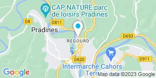 Plan Carte Faugere Jean Jacques à Cahors