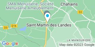 Plan Carte Société Menuiserie Ameublement à Saint-Martin-des-Landes
