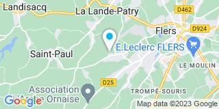 Plan Carte Hubert Menuiserie à La Lande-Patry