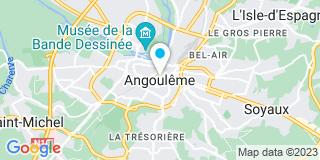 Plan Carte Moreau Bernard à Angoulême