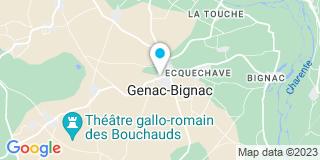 Plan Carte Crassat Hervé à Genac