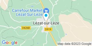 Plan Carte Point P à Lézat-sur-Lèze