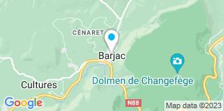 Plan Carte Gerbal à Barjac