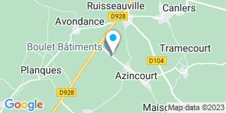 Plan Carte Boulet à Azincourt