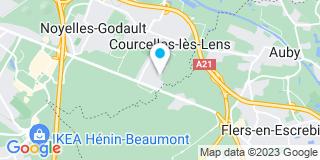 Plan Carte F.M.B.A à Courcelles-les-Lens