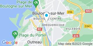Plan Carte Chamoin Bernard à Boulogne-sur-Mer