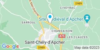 Plan Carte Menuiserie du Gevaudan à Saint-Chely-d'Apcher