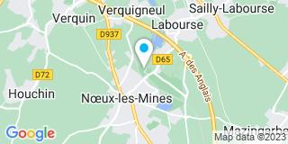 Plan Carte Menuiserie d'Artois à Noeux-les-Mines