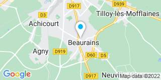 Plan Carte Menuiserie Beaurinoise à Beaurains