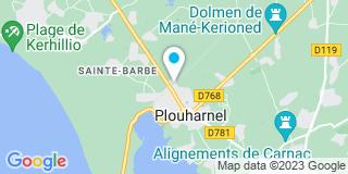 Plan Carte Point P à Carnac Plouharnel