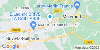 Plan Carte Agence Menuiserie Correzienne Galiazzo à Malemort-sur-Corrèze