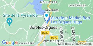 Plan Carte Besse Jacques à Bort-les-Orgues