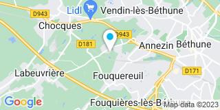 Plan Carte Miroiterie Bocaert à Annezin