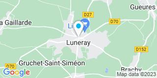 Plan Carte Durand Grandin à Luneray