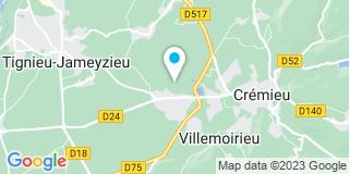 Plan Carte Charpentiers du Prieuré à Villemoirieu