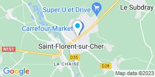 Plan Carte Bricomarché à Saint-Florent-sur-Cher