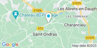 Plan Carte Menuiserie Charpente du Dauphiné à Saint-Ondras
