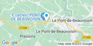 Plan Carte Pillaud à Le Pont-de-Beauvoisin