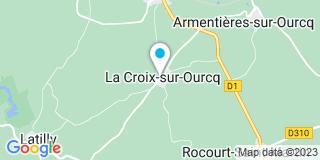 Plan Carte Menuiserie Charpente Du Villonà la Croix-sur-Ourcq