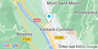 Plan Carte Menuisiers du Fontanil à Fontanil-Cornillon