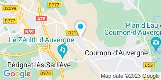 Plan Carte Auverglace à Cournon-d'Auvergne