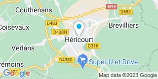Plan Carte Bricomarché à Héricourt