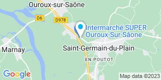Plan Carte Bricomarché à Ouroux-sur-Saône
