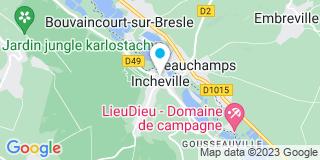 Plan Carte Damerval Menuiserie à Incheville