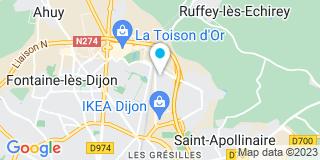 Plan Carte Serrurerie Bernard à Dijon