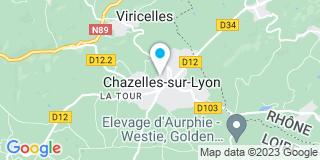 Plan Carte Terrasses Bois & Menuiseries (grad™) à Chazelles-sur-Lyon