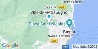 Plan Carte Fève Grégory à Bastia