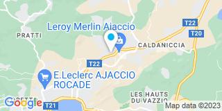 Plan Carte Sud Electricité à Ajaccio