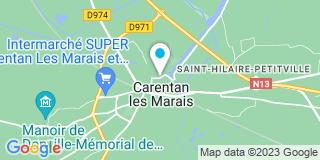 Plan Carte Mary à Carentan