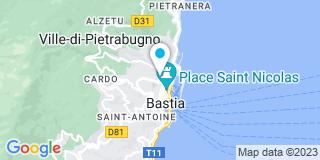 Plan Carte Ucciani Pierre Antoine à Bastia