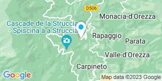 Plan Carte Electricité Casanova à Stazzona