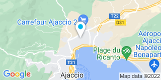 Plan Carte Electricité 2000 à Ajaccio
