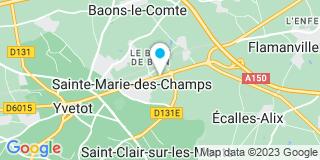 Plan Carte Miroiterie Fermetures Cauchoise à Sainte-Marie-des-Champs