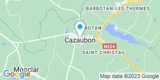 Plan Carte Gamm Vert à Cazaubon