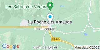Plan Carte Astragale Eurl M. Galmiche Gilbert à La Roche-des-Arnauds