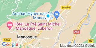 Plan Carte Les Jardins Du Mont D'Or à Manosque