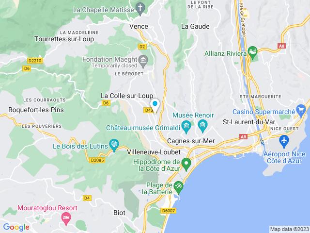 Saint Paul de Vence carte