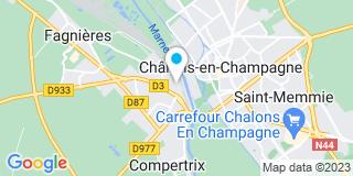 Plan Carte Ribere à Châlons à Châlons-en-Champagne