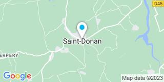 Plan Carte Bidault Menuiserie à Saint-Donan