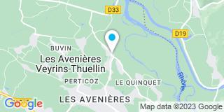 Plan Carte Vie et Menuiserie aux Avenières